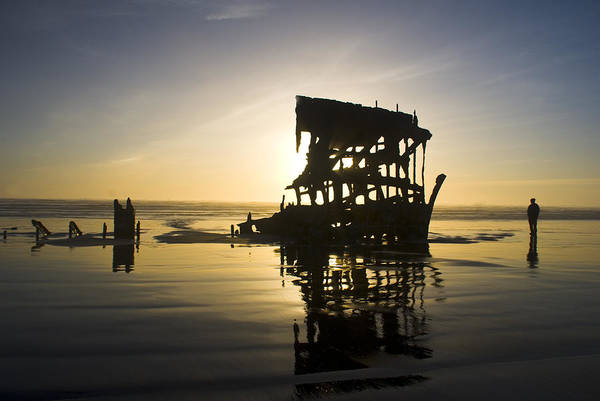 Photograph - Shipwreck On Oregon Coast by Yulia Kazansky