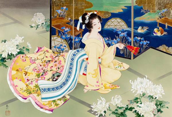 Oriental Photograph - Shiragiku by MGL Meiklejohn Graphics Licensing