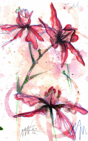 Painting - Shiraz Orchids I by Ashley Kujan