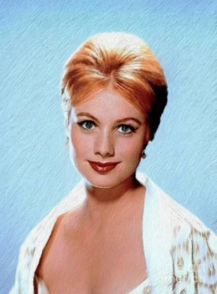 Family Portrait Wall Art - Painting - Shirley Jones, Vintage Actress by Mary Bassett