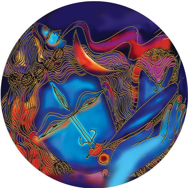 Painting - Shiva Blowing The Horn by Guruji Aruneshvar Paris Art Curator Katrin Suter