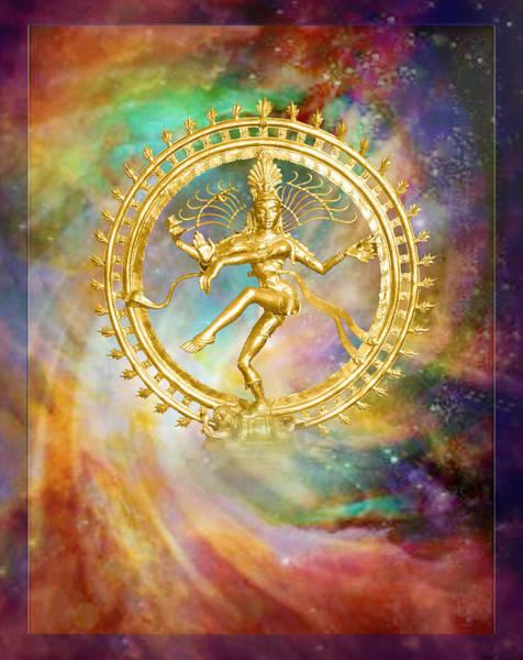 Wall Art - Mixed Media - Shiva Nataraja - The Lord Of The Dance by Ananda Vdovic