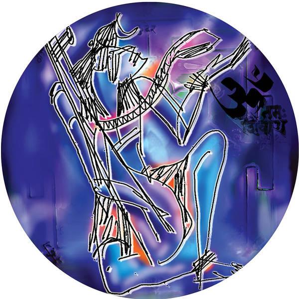 Painting - Shiva Playing Vina by Guruji Aruneshvar Paris Art Curator Katrin Suter