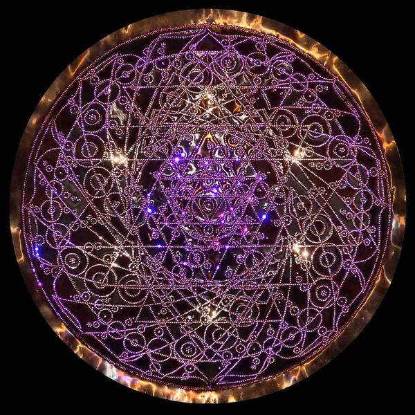 Sculpture - Shiva Shakti Coipper Lightmandala by Robert Thalmeier