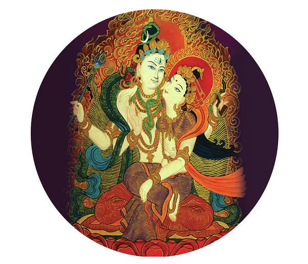 Painting - Shiva Shakti by Guruji Aruneshvar Paris Art Curator Katrin Suter