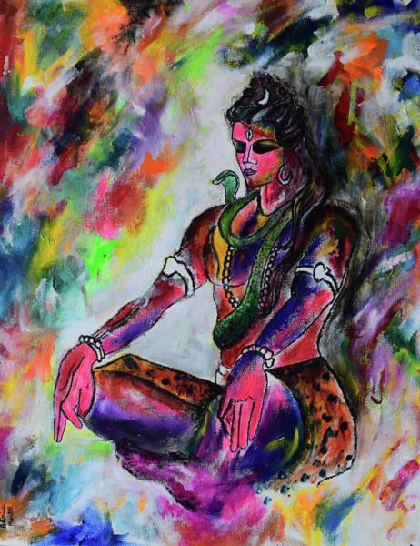 Transformer Painting - Shiva-the Adiyogi by Aatmica Ojha