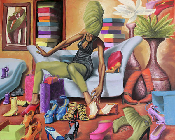 Couch Wall Art - Painting - Shoe Addict by The Art of DionJa'Y
