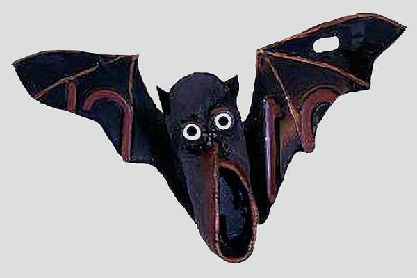 Mixed Media - Shoe Bat by Bill Thomson