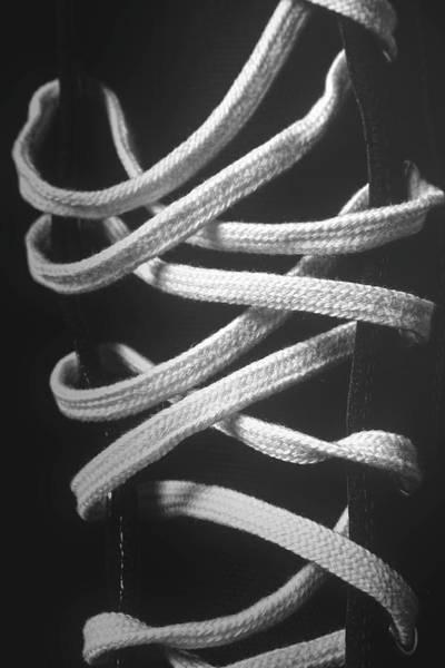 Boot Photograph - Shoe Laces by Tom Mc Nemar