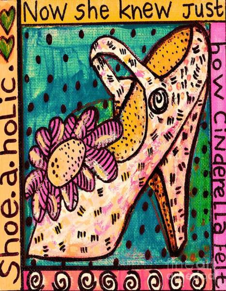 Painting - -shoe.a.holic - Cinderella by Sandra Silberzweig