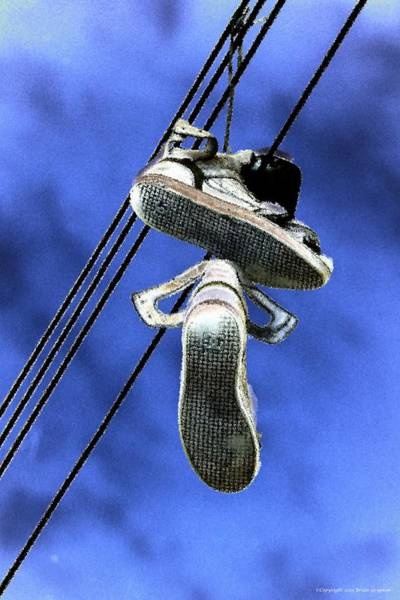 Photograph - Shoefiti 13115 by Brian Gryphon