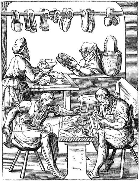 Jost Photograph - Shoemakers, 16th Century by Granger