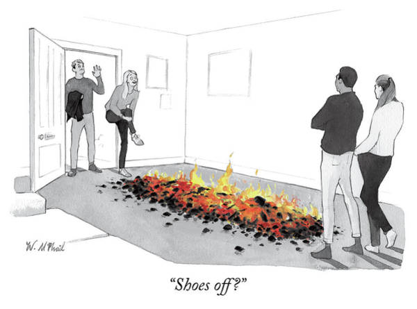 Fire Drawing - Shoes Off by Will McPhail