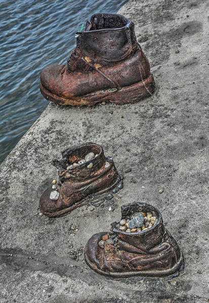 Photograph - Shoes On The Danube by Michael Kirk