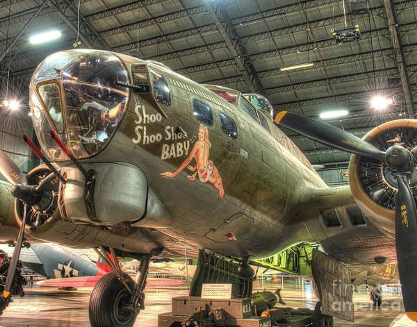Wall Art - Photograph - Shoo Shoo Shoo Baby, B-17g Flying Fortress by Greg Hager