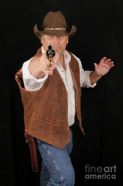 Cowboy Action Shooting Photograph - Shooting Cowboy by Timothy OLeary