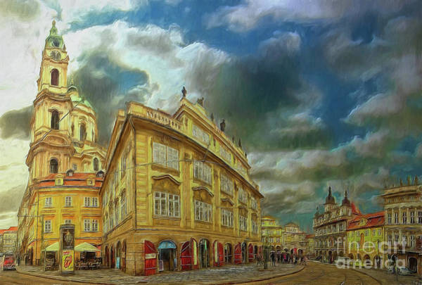 Shooting Round The Corner - Prague Art Print