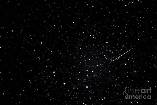 Shooting Star Wall Art - Photograph - Shooting Star And Big Dipper by Thomas R Fletcher
