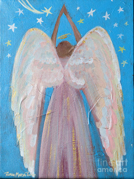 Painting - Shooting Star Angel by Robin Maria Pedrero
