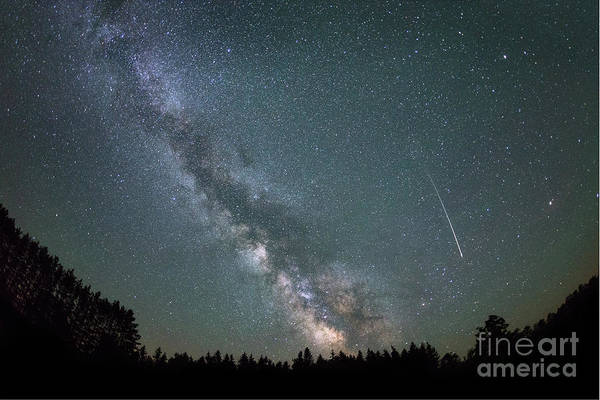 Shooting Star Wall Art - Photograph - Shooting Star Milky Way Rising by Michael Ver Sprill