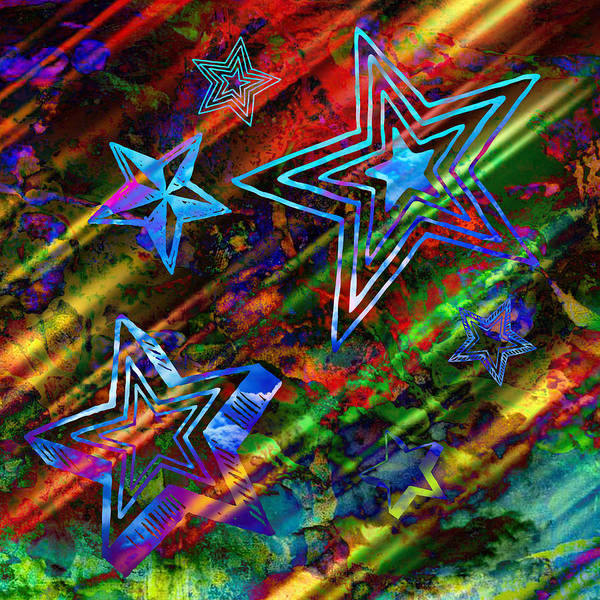Shooting Mixed Media - Shooting Stars by Ally White