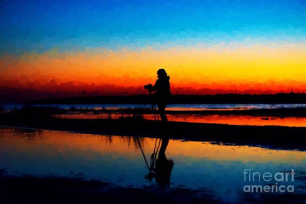 Photograph - Sunset Shoot by Les Palenik