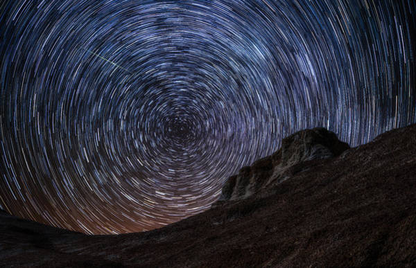 Star Trails Photograph - Shooting The Mines by Darren  White