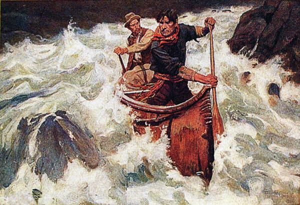 Painting - Shooting The Rapids by Philip R Goodwin