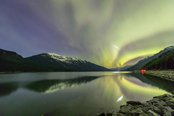 Photograph - Shooting Through The Aurora by M C Hood