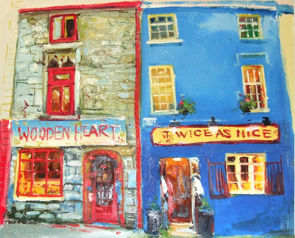 Wall Art - Painting - Shopfronts Galway by Conor McGuire