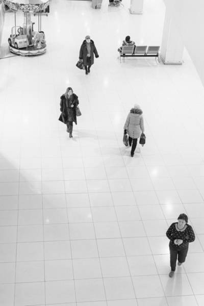 Photograph - Shopping Zone Walkers by John Williams
