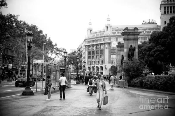 Photograph - Shopping Day In Barcelona by John Rizzuto