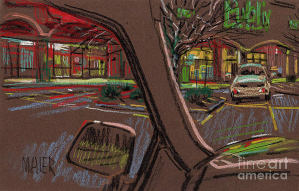 Auto Drawing - Shopping by Donald Maier