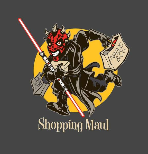 Sith Digital Art - Shopping Maul by Edward Draganski