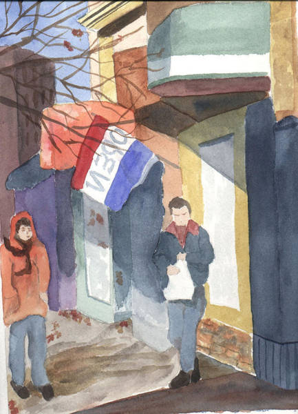 Painting - Shopping On Exchange Street by Jane Croteau