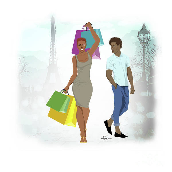 Painting - Shopping With Style In Paris by Reggie Duffie
