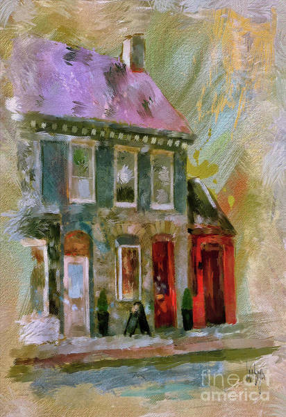 Wall Art - Digital Art - Shops Of Old Frederick by Lois Bryan