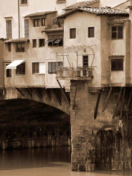 Photograph - Shops On The Ponte Vecchio by Donna Corless