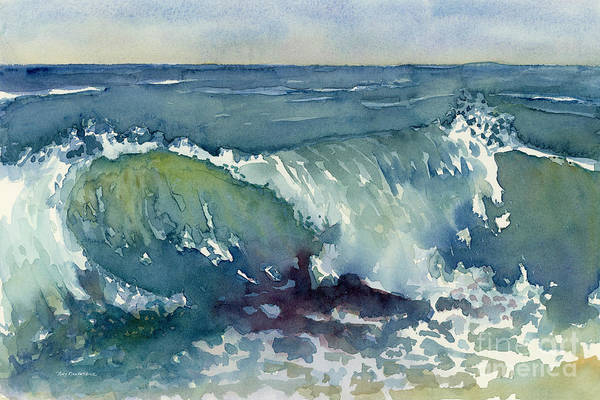 Wave Breaking Painting - Shore Break by Amy Kirkpatrick