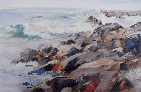 Painting - Shore's Rocky by P Anthony Visco