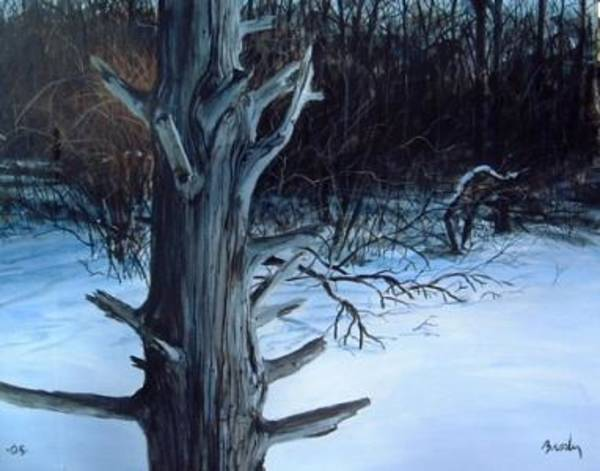 Painting - Shore Of Winter by William Brody