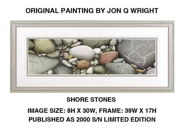 Wall Art - Painting - Shore Stones by JQ Licensing