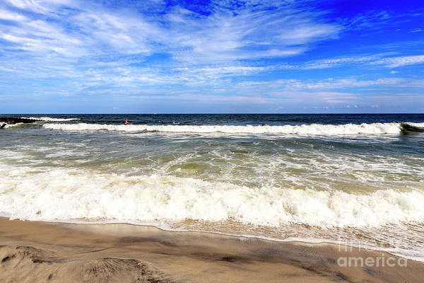 Down The Shore Photograph - Shore Waves On Long Beach Island by John Rizzuto