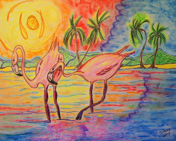 Pelican Mixed Media - Shorebirds by W Gilroy
