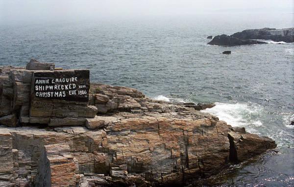Photograph - Shoreline And Shipwreck - Portland, Maine by Frank Romeo
