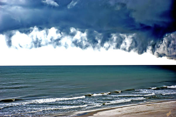 Photograph - Shoreline And Storm Clouds by Gina O'Brien