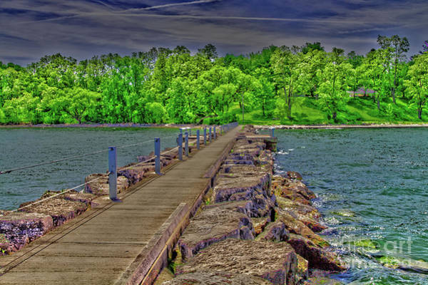Photograph - Shoreline By The Jetty by William Norton