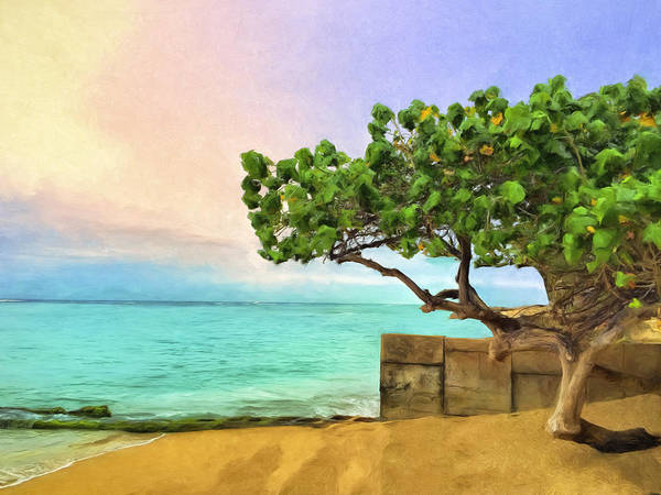 Painting - Shoreline Near Waikiki by Dominic Piperata