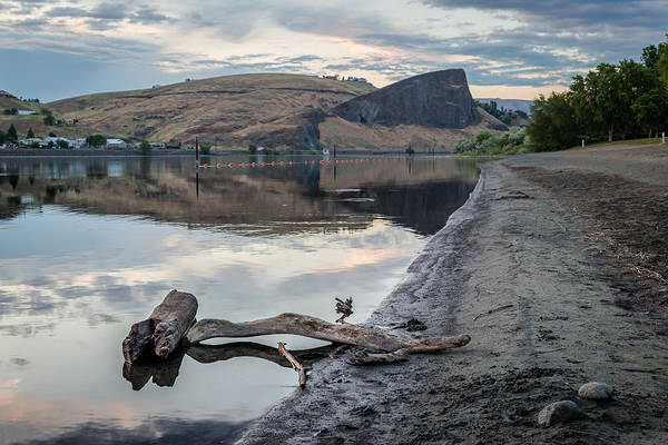 Lewiston Photograph - Shoreline View Of The Rock by Brad Stinson