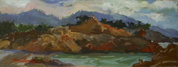Painting - Shores Of Carmel  Plein Air by Betty Jean Billups